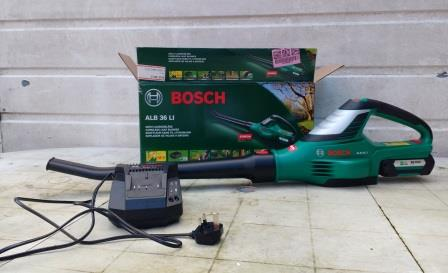 used bosch alb 36 li cordless leaf blower goto4gardening. Black Bedroom Furniture Sets. Home Design Ideas